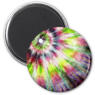 Aimant Aquarelle de colorant de cravate de kiwi