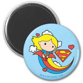 Aimant Arc-en-ciel de vol de Chibi Supergirl