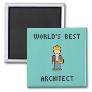 Aimant Architecte du monde de pixel le meilleur