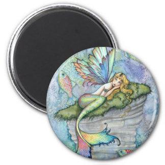 Aimant Art coloré d'imaginaire de poissons de sirène et