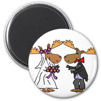 Aimant Art génial drôle de bande dessinée de mariage