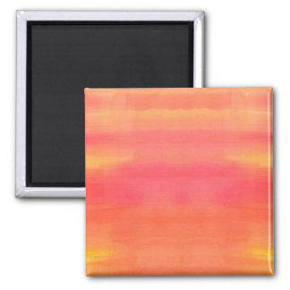 Aimant Art Solénoïde-Jaune et orange d'aquarelle d'ombre