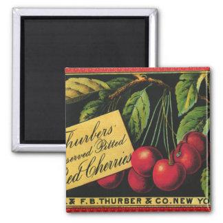 Aimant Art vintage d'étiquette de caisse de fruit,
