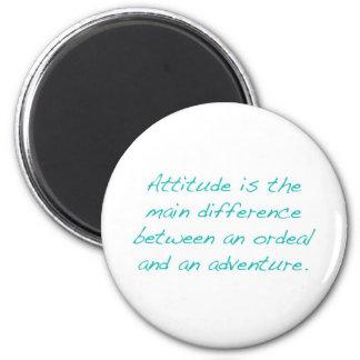 Aimant Attitude -- épreuve ou aventure (vert)