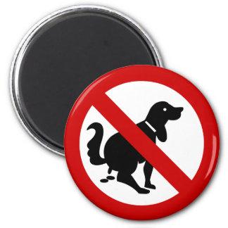 Aimant AUCUN chien encrassant le ⚠ thaïlandais de signe