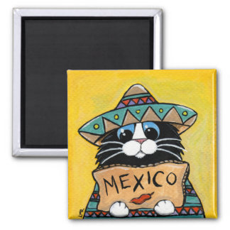 Aimant Auto-stoppeur lunatique de Mexicain de chat de
