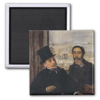 Aimant Autoportrait W Evariste de Valernes d'Edgar Degas