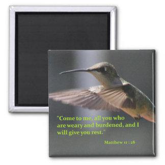 aimant avec le colibri - donnez-vous le repos