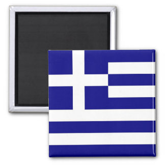 Aimant avec le drapeau de la Grèce