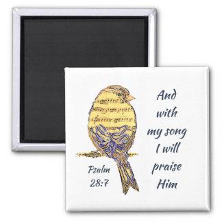 Aimant Avec ma chanson I félicitez-le oiseau d'écriture