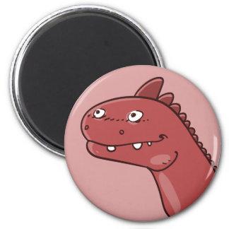 Aimant bande dessinée drôle principale de dinosaure