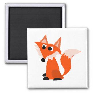 Aimant Bande dessinée mignonne de Fox rouge