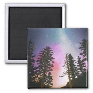 Aimant Beau ciel nocturne brillant jusqu'aux cieux
