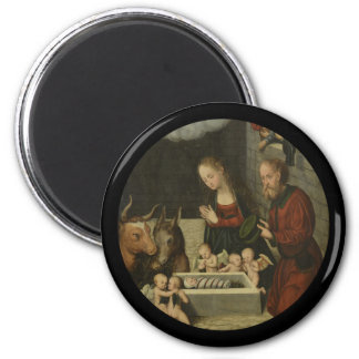 Aimant Bergers adorant le bébé Jésus par Cranach