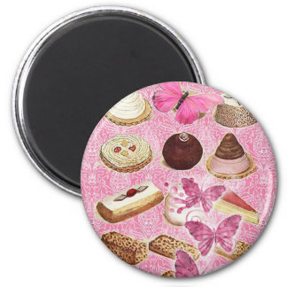 Aimant biscuits roses de petit gâteau de pâtisserie