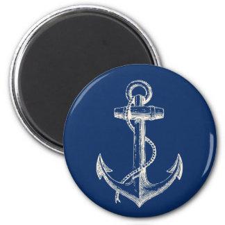 Aimant Blanc nautique de bleu marine de cadeau d'aimant