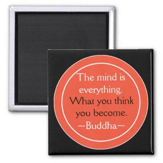 Aimant Bouddha cite des pensées de motivation