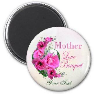 Aimant Bouquet d'amour d'aimant de photo du jour de mère