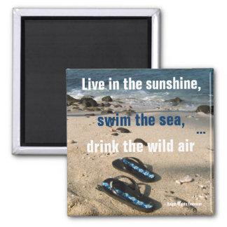Aimant Buts de vie de soleil et de mer