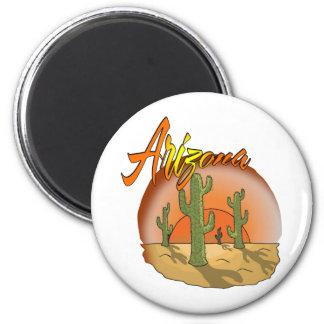 Aimant Cactus de coucher du soleil de l'ARIZONA