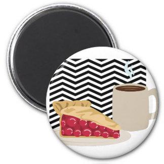 Aimant Café et tarte aux cerises