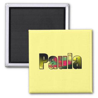 Aimant carré de Paula en jaune