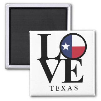 Aimant carré du Texas 2x2 d'AMOUR