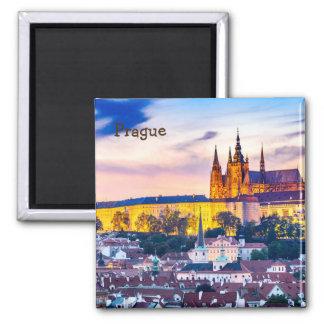 Aimant carré Prague de 2 pouces