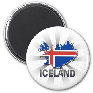 Aimant Carte 2,0 de drapeau de l'Islande