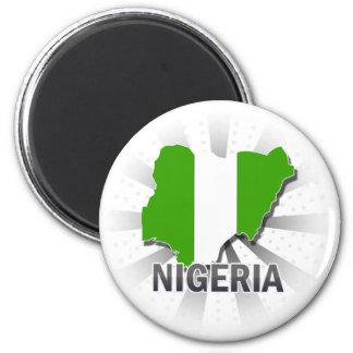 Aimant Carte 2,0 de drapeau du Nigéria
