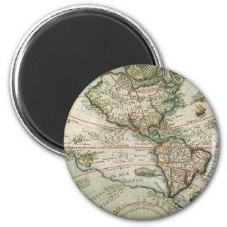 Aimant Carte de Vieux Monde antique des Amériques, 1597