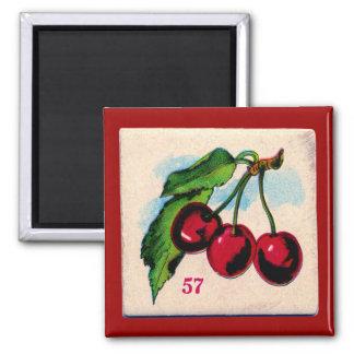 Aimant Carte vintage de jeu de cerises