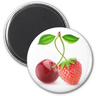 Aimant Cerise et fraise ensemble