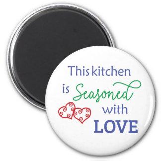 Aimant Cette cuisine est assaisonnée avec amour