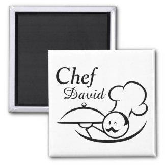 Aimant Chef illustré personnalisé