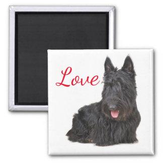 Aimant Chiot noir de Terrier d'écossais d'amour