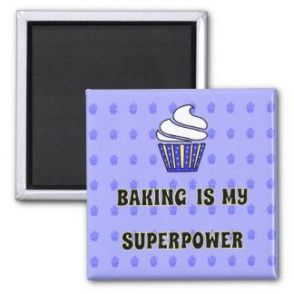 Aimant Citation bleue de petits gâteaux de la