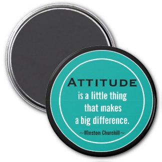 Aimant Citation Churchill de motivation d'attitude