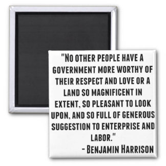 Aimant Citation de Benjamin Harrison