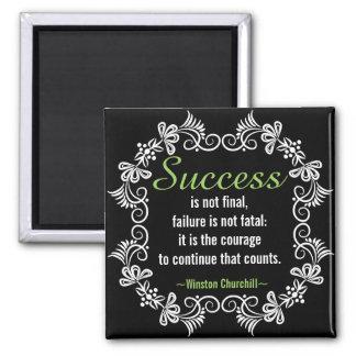 Aimant Citation de motivation d'attitude positive de