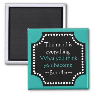 Aimant Citation de motivation de Bouddha de pensées