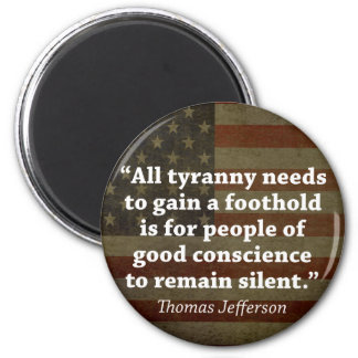 Aimant Citation de Thomas Jefferson