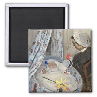 Aimant Claude Monet | le berceau, Camille avec le fils