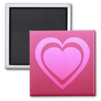 Aimant Coeur assez rose