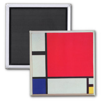 Aimant Composition avec rouge, le bleu et le jaune