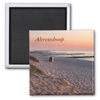 Aimant Coucher du soleil de plage d'Ahrenshoop