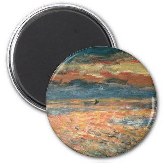 Aimant Coucher du soleil en mer par Pierre Renoir,