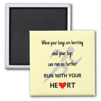 Aimant Courez avec votre coeur inspiré