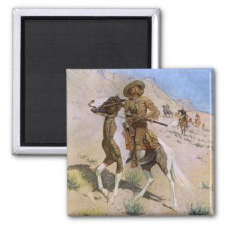 Aimant Cowboys militaires vintages, le scout par
