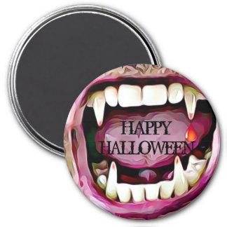 Aimant Crocs de vampire avec le bouton de Halloween de